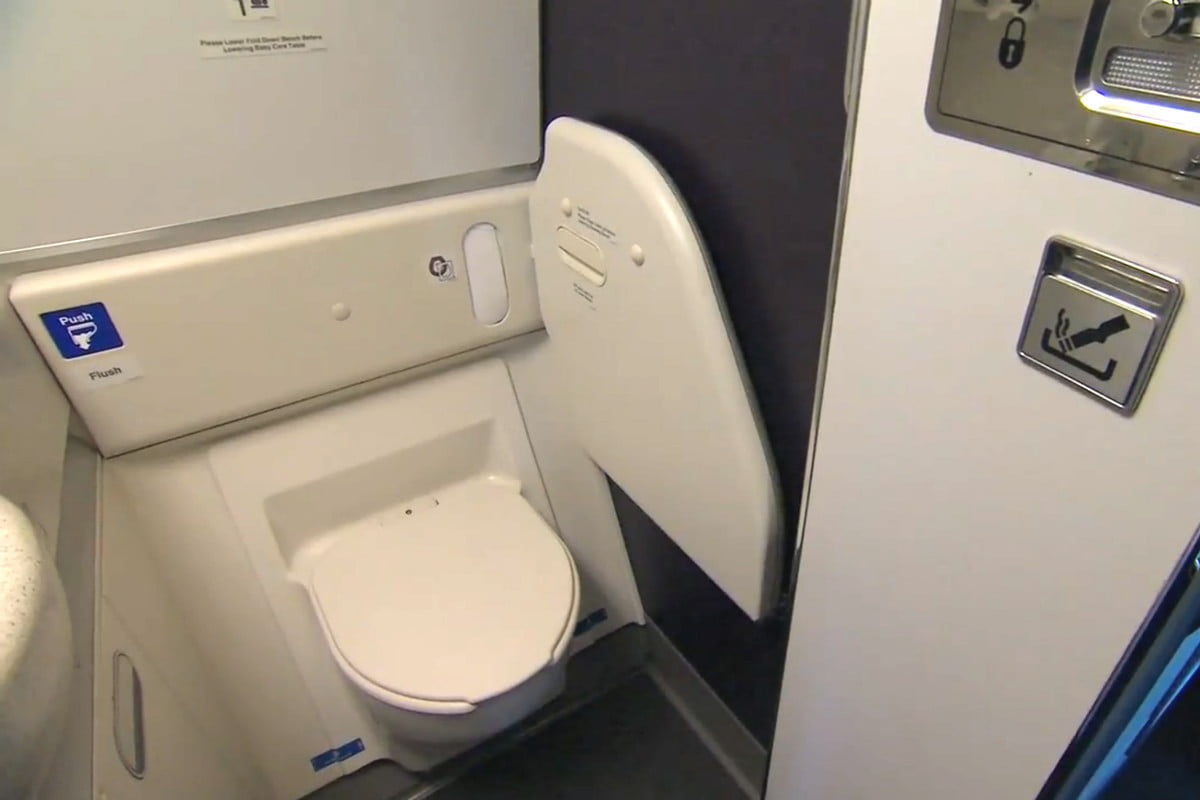 air new zealand pee lab plane toilet