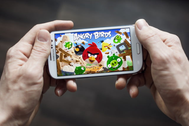 youtube gaming streaming mobile gameplay playing angry birds game shutterstock