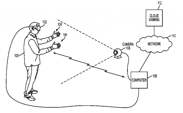 glove patent playstation vr cloud based