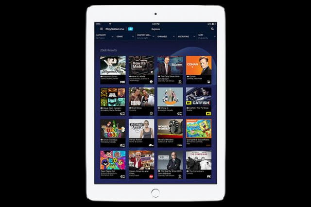 playstation vue adds slim packages at  per month ipad featured