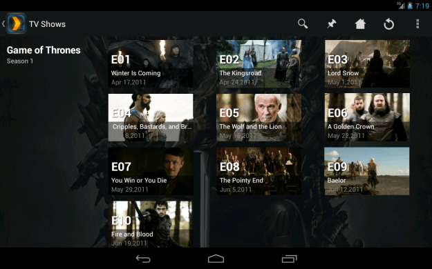 Plex Chromecast screenshot