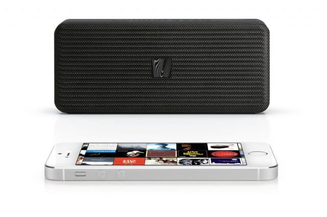 soundfreaq releases super slim pocket kick wireless speaker sfq  black front iphone