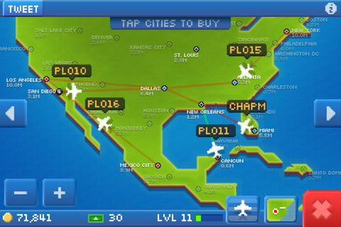 pocket planes screenshot ipod iphone ios free game app