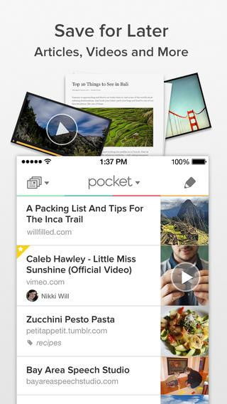 best ios  apps pocket