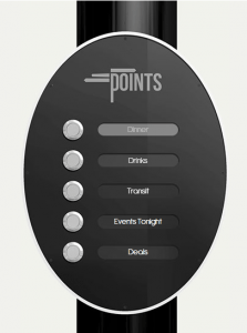 Points digital sign menu
