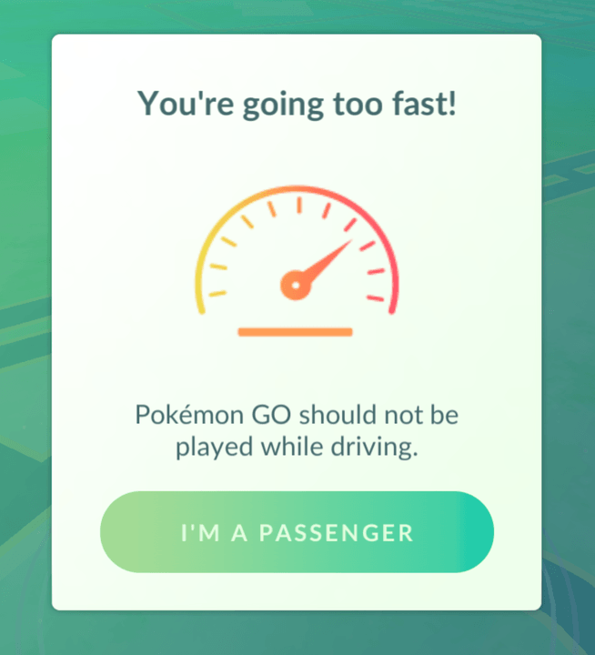 pokemon go driver message