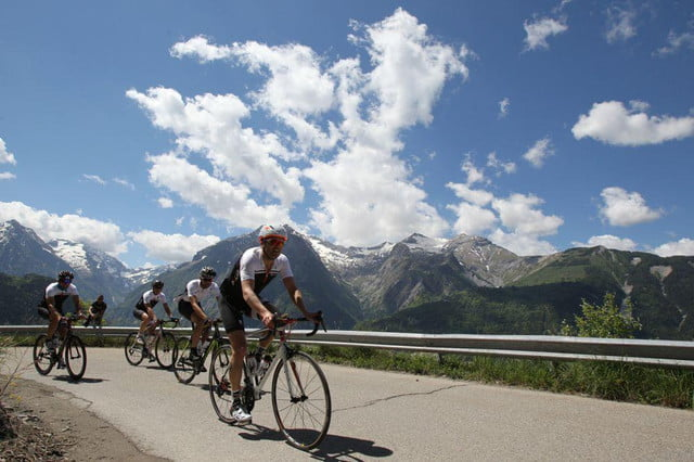 polar climbs the alpe dhuez to show off new bike computer m  group ride
