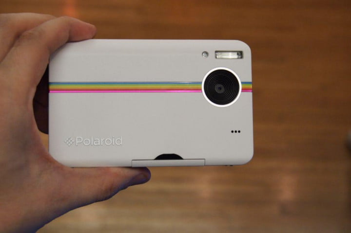 previewing the polaroid z  compact instant digital camera