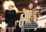 Lady Gaga and Maurizio Galamiti at the Polaroid Booth at CES 2010