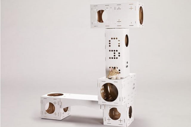 poopy cats blocks are cardboard cat playgrounds tower