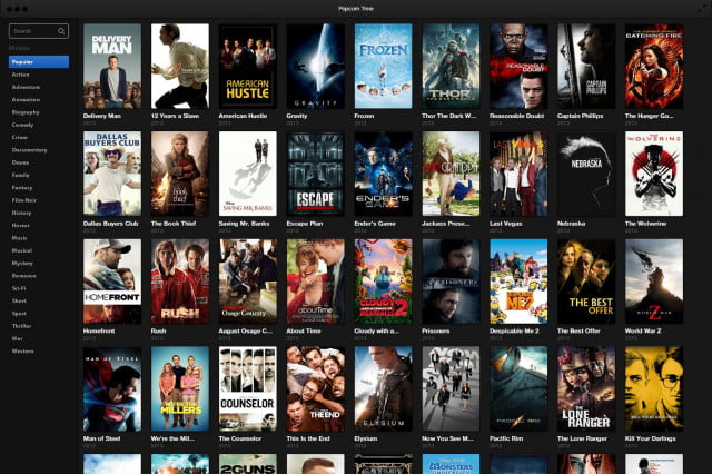 Popcorn Time Software Popular Movies