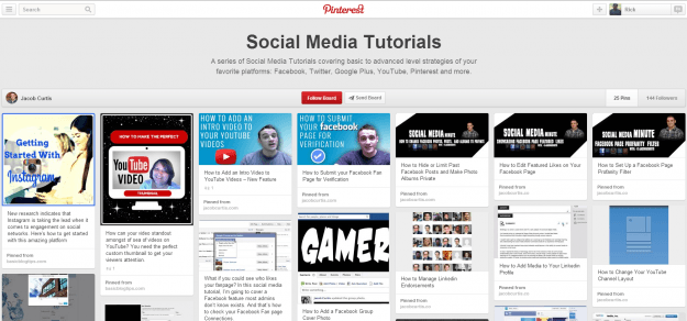 Social Media Tutorials on Pinterest
