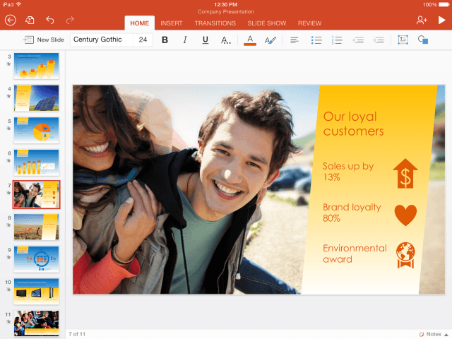 microsoft free ios apps powerpoint for ipad hero