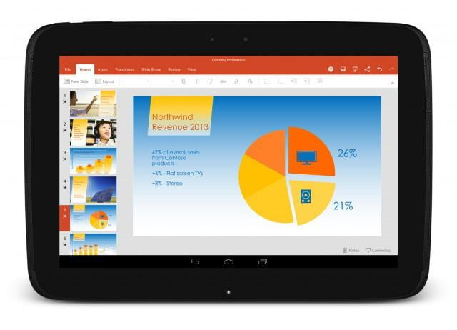 microsoft office preinstalled on some android tablets powerpointandroid