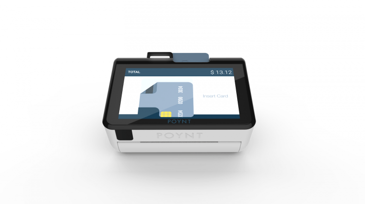 poynt payment terminal  customer screen head on