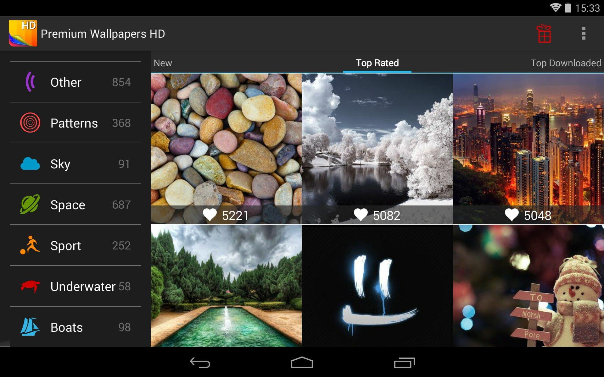 The Wallpaper App For Awesome People: Premium_Wallpapers_HD_Android_tablet_app_screenshot