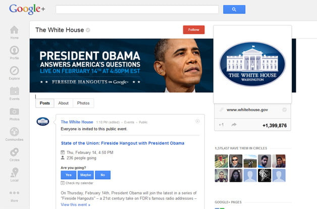 President Obama GooglePlus Fireside Hangout Feb142013