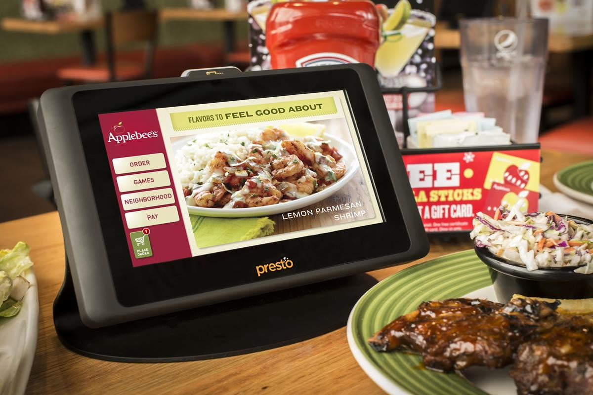 applebees rolls plan install tablets every table presto main menu