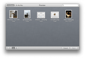 OS X Mountain Lion Preview iCloud Open