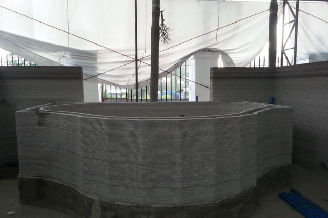 The 3D-printed jacuzzi