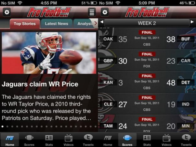 pro football insider screenshot nfl football app