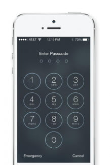 problems with ios 7 passcode lock screen