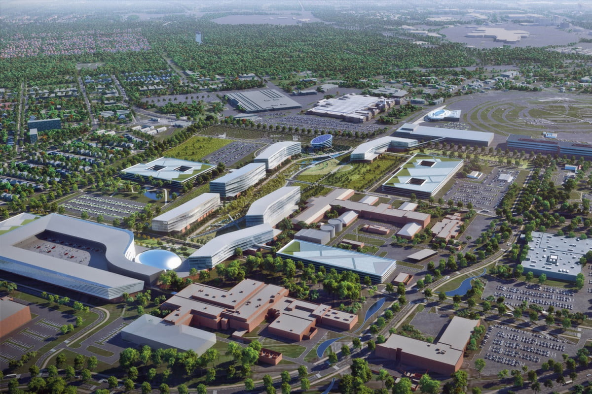ford dearborn headquarters renovation product campus rendering
