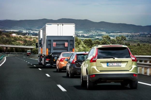 Project Sartre: Volvo road train travels 120 miles autonomously in Spain