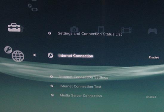 ps  enable internet connect