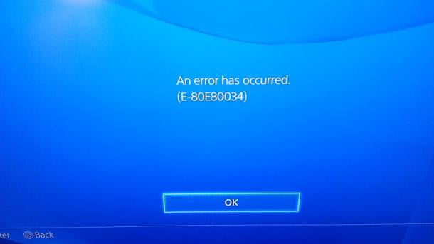 Playstation 4 bugs