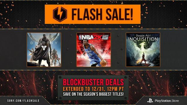 playstation holiday sales extended following christmas psn outage flash sale