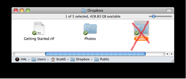 no more public dropbox folders