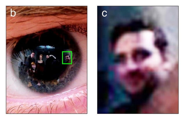 reflection pupil human eye reveal things person sees