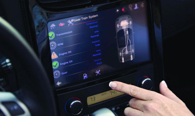 QNX tablet dash