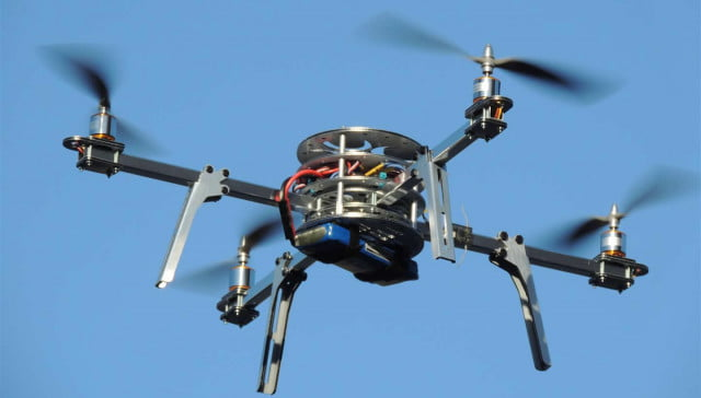 pepper spraying drones to take on unruly protesters in india quadcopter drone