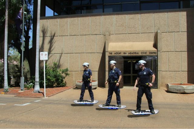 hoverboard unit dispatched by aussie cops in back to the future day spoof queensland
