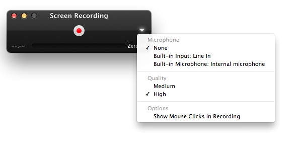 how to use quicktime record screen
