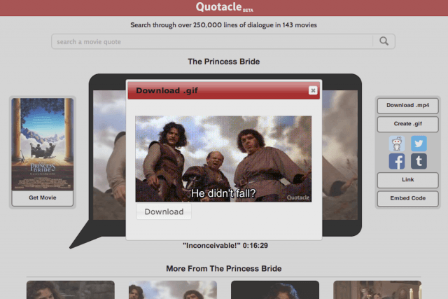 quotacle turns movie quotes into gifs