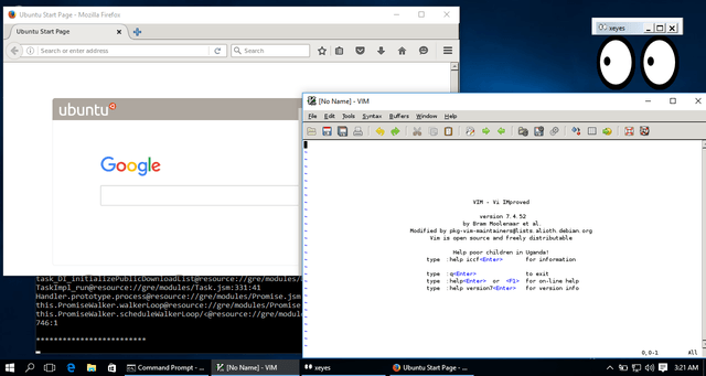 bash developers firefox linux running in windows