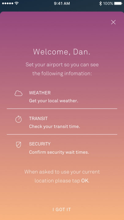 raden smart luggage app screenshot
