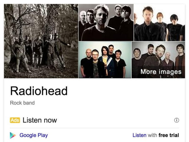 google now lets buy tickets well search gigs radiohead
