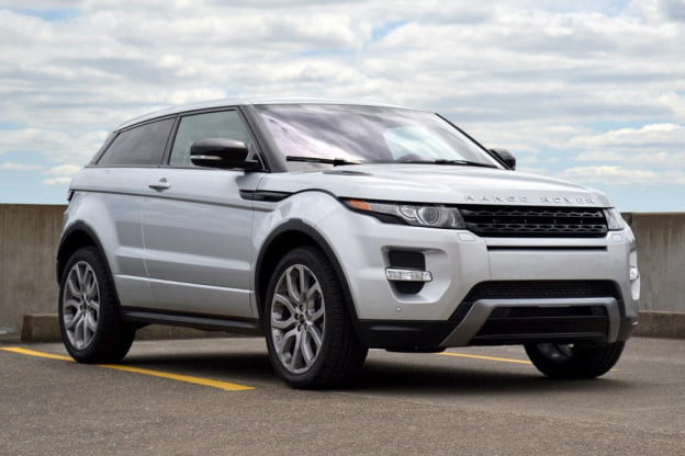 Rang Rover Evoque front angle 2012 review