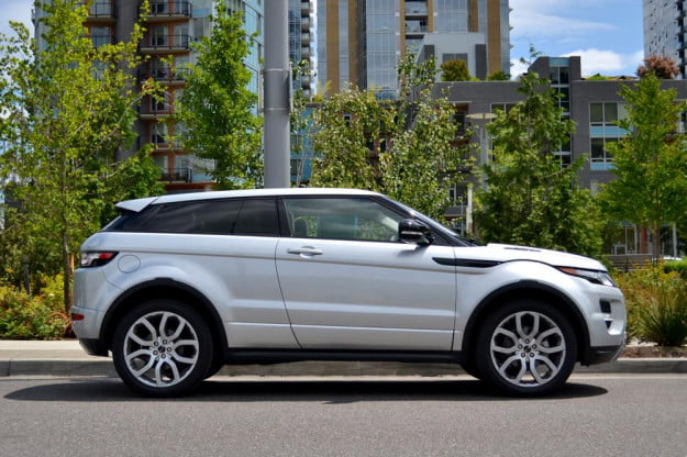 Rang Rover Evoque side review 2012