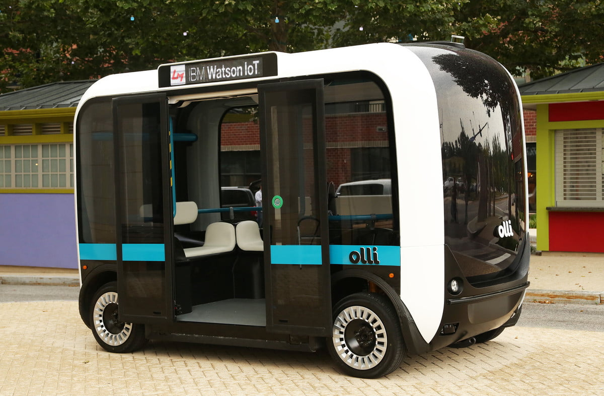 olli autonomous car powered by ibm watson local motors