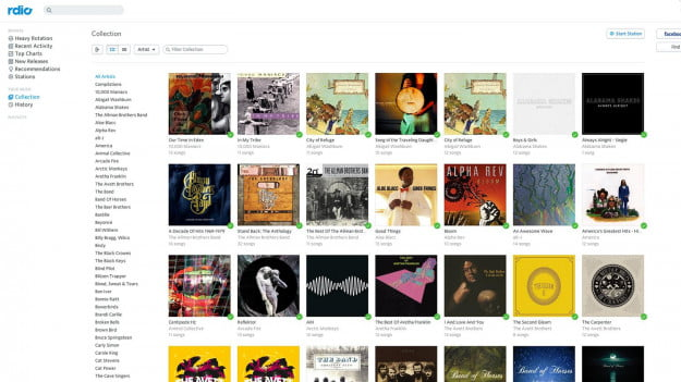 Rdio Music collection