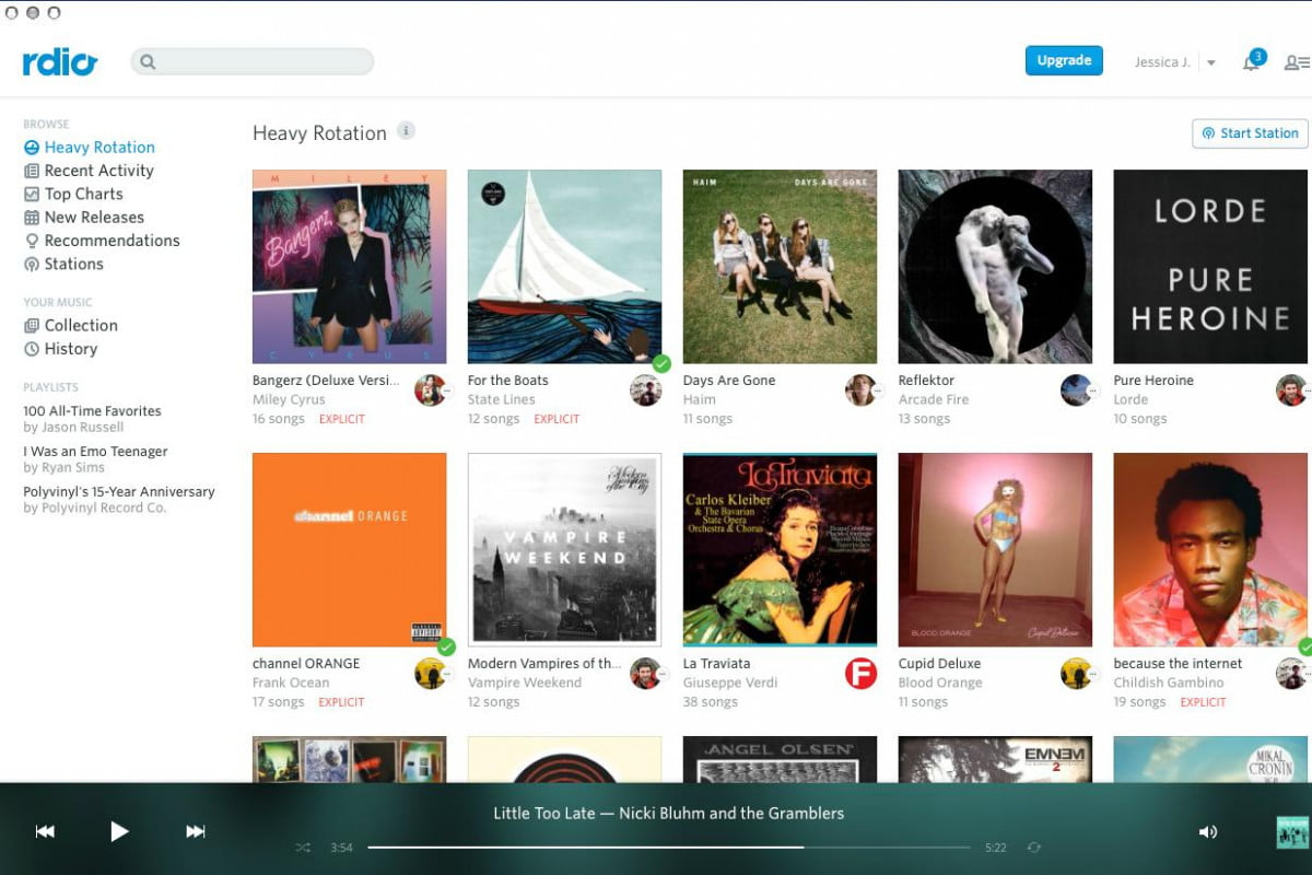 rdio follows spotify drops listening limits for web users