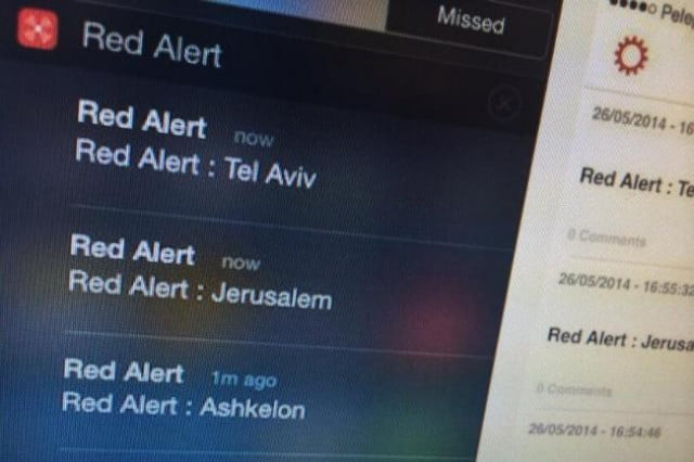 yo app used alert israelis incoming missile attacks red