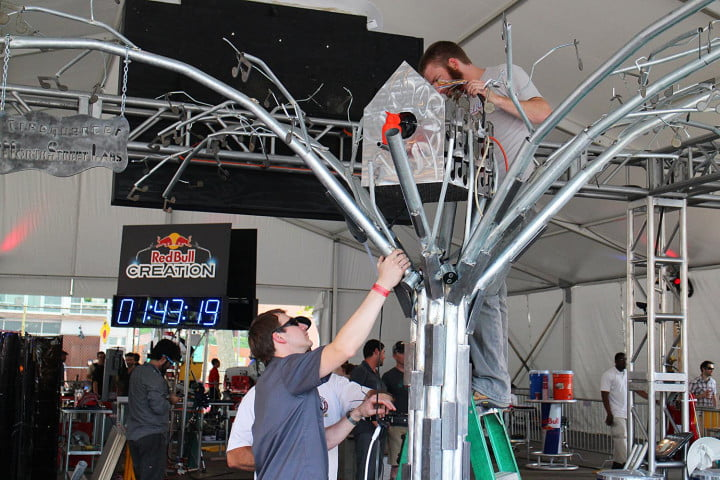 build a musical tree insane hours at red bulls creation challenge bull competition construction