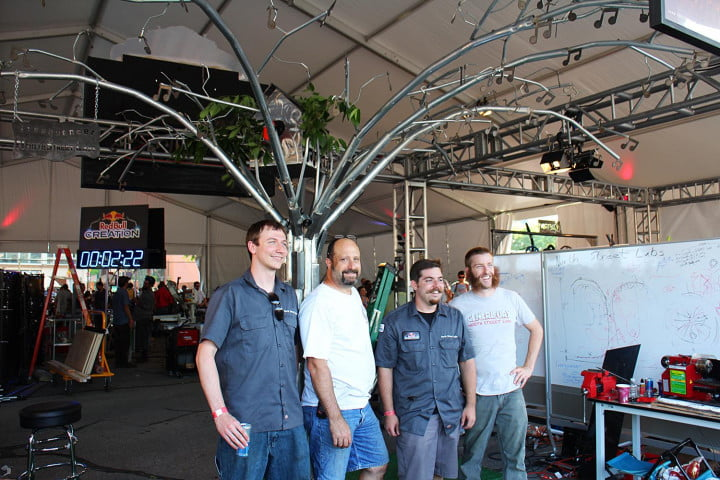 build a musical tree insane hours at red bulls creation challenge bull crew