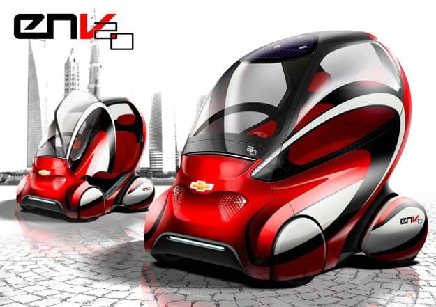 Red with envy GM shows off next generation of autonomous EN V pod car in Beijing